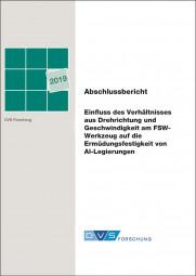 Einfluss des Verhältnisses aus Drehrichtung und Geschwindigkeit am FSW-Werkzeug auf die Ermüdungsfestigkeit von Al-Legierungen